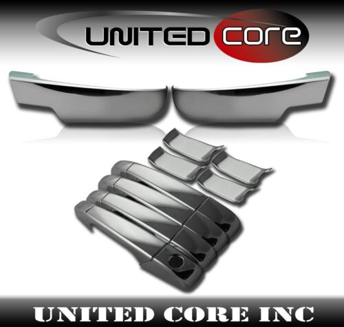 Chevy Tahoe Suburban Chrome Bottom Lower Mirror Cover Door Handle Cover 07-13