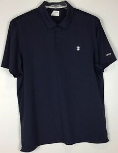 Mens-Izod-Golf-Polo-Shirt-Large-Short-Sleeve-Striped