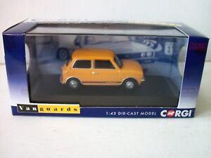 Corgi Vanguard Va13500 Mini 1275 Gt, jaune bronze,   Corgi Vanguard Va13500 Mini 1275 Gt , Bronze Yellow ,,