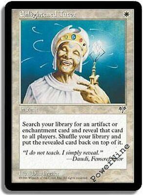 1 PLAYED Enlightened Tutor White Mirage Mtg Magic Uncommon 1x x1