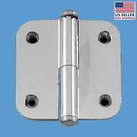 Cabinet Hinge 2 Lift Off Right Chrome Radius Coin Tip | Renovator's Supply