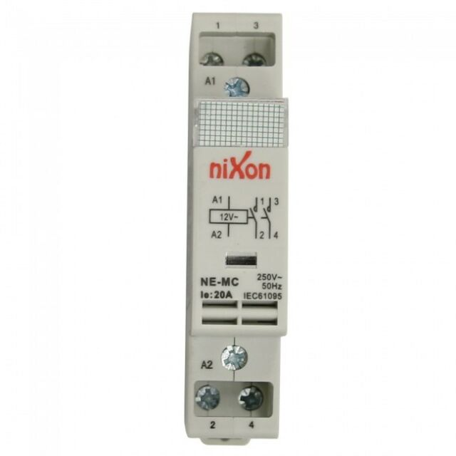 12Volt 20A 2Pole - 2NO - Din Rail Contactor ELECTRICAL FREE SHIPPING