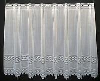 13 cm breite Scheibengardine Jacquard grafisch 110 cm hoch