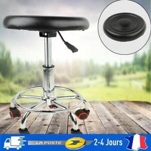Tabouret-a-roulettes-avec-pied-en-acier-pivotable-a-360-reglable-a-Roulettes