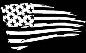 Die Cut Vinyl Decal American Flag USA Patriotic Tattered Old Glory 20 Colors #14