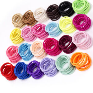 100Pcs-Kids-Girl-Elastic-Rope-Hair-Ties-Ponytail-Holder-Head-Band-Hairbands-Dr