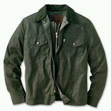LEVI x FILSON OTTER GREEN HUNTER TRUCKER JACKET L OIL FINISH SHELTER CLOTH lvc