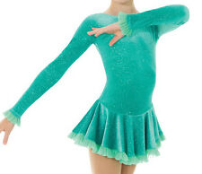 Ice Figure Skating Mondor Competition Skate Dress 2739 Mermaid Aqua Adult Small
