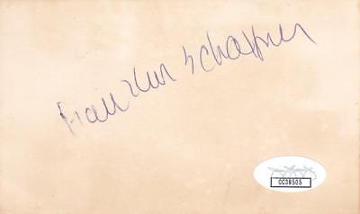 Movies Nice Franklin Schaffner D 1989 Signed 3x5 Index Card Director/patton Jsa Cc38505