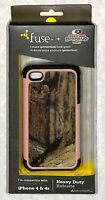 Fuse Plus You 7395 Mossy Oak Camo Rugged Shell Case Iphone 4/4s Pink Trim