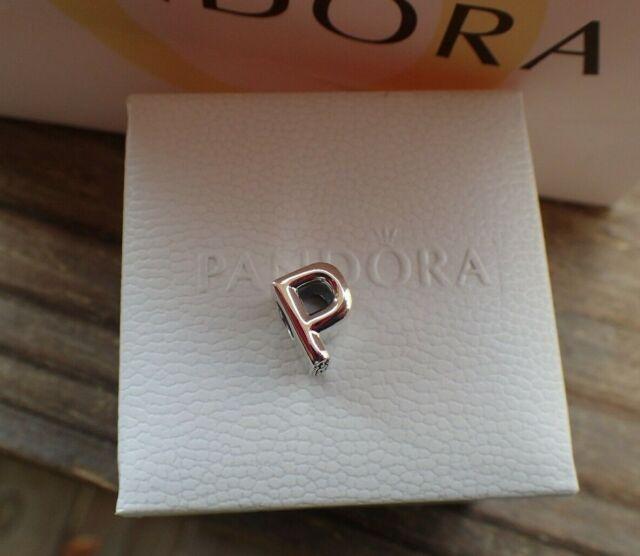 Authentic Pandora Charm Initial  U0026quot P U0026quot  797470 Letter