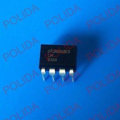 50PCS IC LM83 NSC DIP-8 Dual Low Noise Audio Op-Amp NEW LM833N