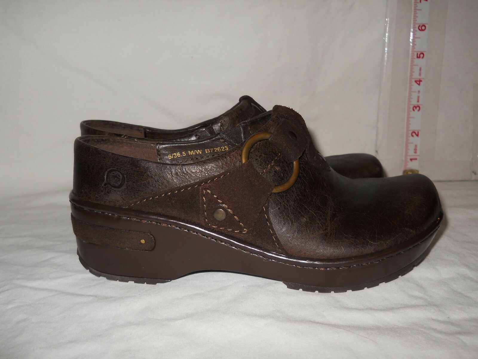 Born New Womens Floro Dark Brown Clogs 6 M Shoes NWOB
