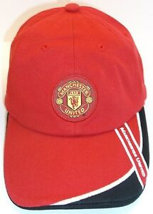 Manchester United FC Ball Cap Hat~RED~OFFICIAL~Adjustable Buckle~NWT ... 0accbb136a82