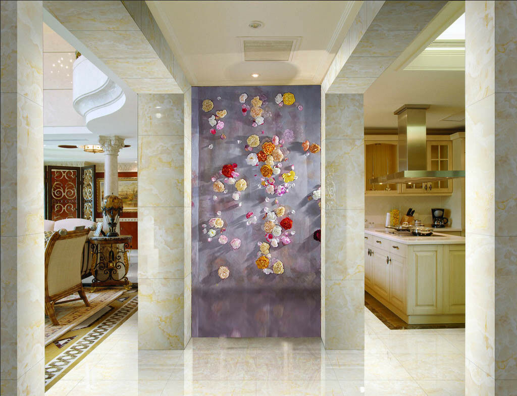 3D Flower Pattern 512 Wall Paper Wall Print Decal Wall Deco Indoor Mural Carly