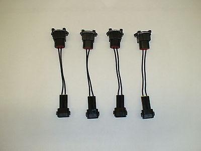 female 4 USCar // EV6 EV14 to OBD2 injector plug adapters Honda Acura male