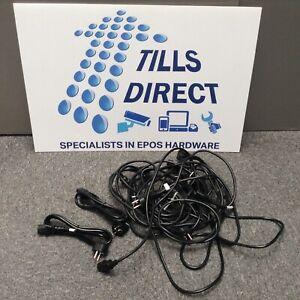 10 X Euro Plug Power Cord Pour Bouilloire Câble Plomb (sku 1003)-afficher Le Titre D'origine