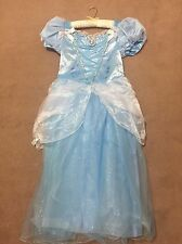 DISNEY CENERENTOLA BLUE SPARKLE NET, BIANCO TESSUTO Fancy dress.bnwt. + ve feedback