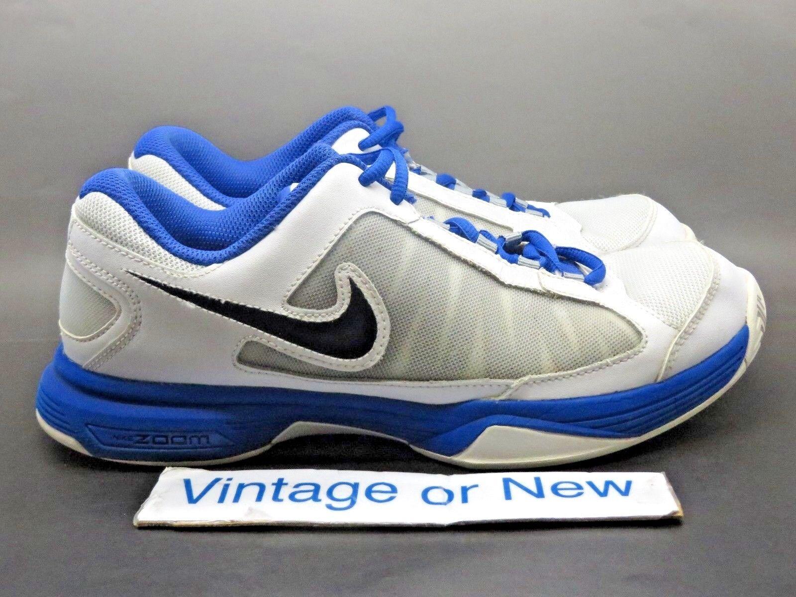 9ca9e689ec5d Women s Nike Zoom Courtlite Courtlite Courtlite 3 Platinum White Black Blue  Tennis 487996-001 sz