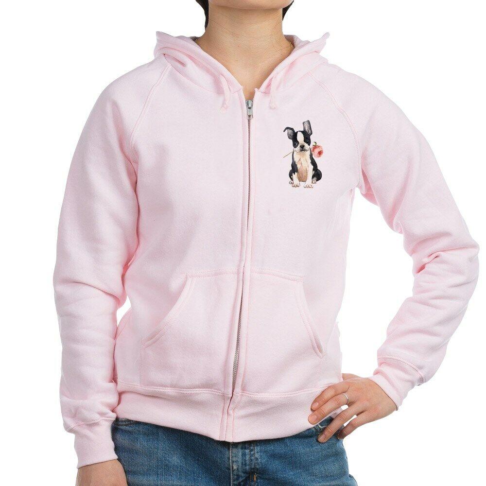 CafePress Boston Terrier  pink Zip Hoodie (356565955)  online shop