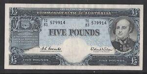 1961-Australia-Five-Pounds-Coombs-Wilson-TC-83-579914-VF