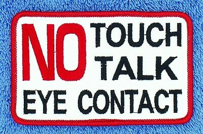No Touch Talk Eye Contact Service Dog Patch 2.5X4 Assistance Support Danny LuAnn