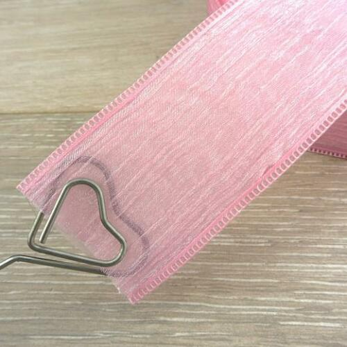 Buddly Crafts 40mm Crinkle Organza /& Satin Bridal Ribbon 1m