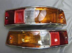 Set of NOS 1965-68 Porsche SWB 911 912 Bosch Euro Taillight Assemblies Housings