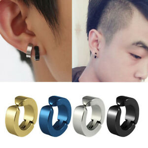 Image Is Loading Hot Men Anium Steel Magnetic Clip On Earrings