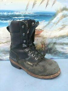 89657c6ed37 Details about Men's Wolverine Steel Toe TassleLacer Work Boot Brown SIZE US  8.5 M W05634