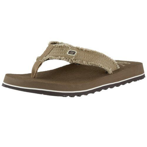 9b2f63453fae Men s Skechers Tantric Fray Thong Sandals Brown 7 US for sale online ...