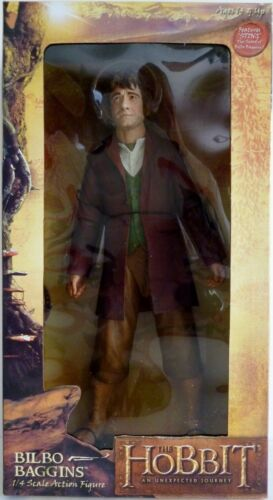 """BILBO BAGGINS The Lord of the Rings Hobbit Movie 1//4 Scale 10/"""" Figure Neca 2013"""