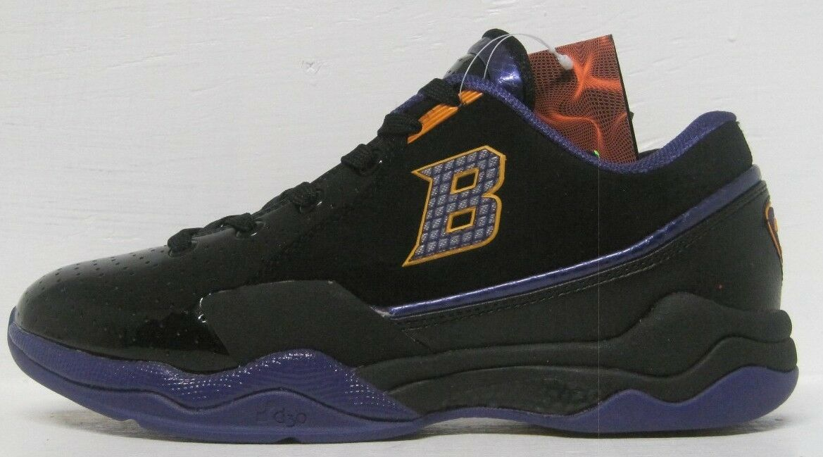 ball&#039;n men&#039;s shoes athletic sneaker lay up black/purple/g<wbr/>old sizes 8 to 12 us m