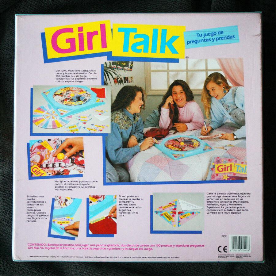 GIRL TALK BOARD GAME (WESTERN, DISET). JUEGO DE DE DE MESA VINTAGE, 1988! SPANISH, BN! 1a8d8f