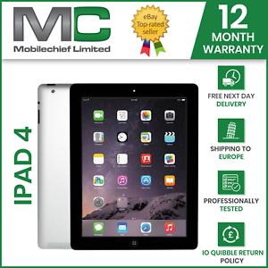 Apple iPad 4th Gen 16GB, 32GB, Wi-Fi, 9.7in, IOS10 All Grades 12 Months Warranty
