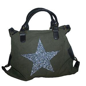 Damen-Tasche-XXL-Shopper-Glitzer-Stern-Damen-Tasche-Canvas-2016-0149-A22
