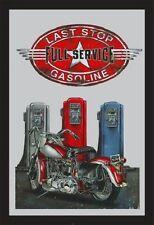 Gasoline Full Service Nostalgie Barspiegel Spiegel Bar Mirror 22 x 32 cm