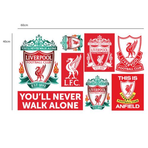 Abzeichen Liverpool Fußballverein Europäisch Nacht Kop Zertrümmert Wandbild