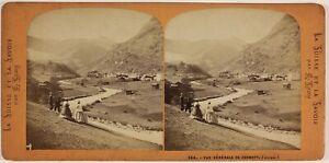Zermatt-Suisse-Foto-Lamy-Stereo-PL53L2n9-Vintage-Albumina-c1865