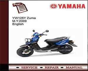 yamaha yw125y yw125 zuma m y 2009 workshop service repair manual ebay rh ebay co uk 2014 Yamaha YW125 2005 Yamaha Zuma Parts