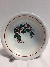 *Fiestaware*Fiesta Ware* Christmas *Holly & Ribbons*Cereal/Soup Bowl #16301j