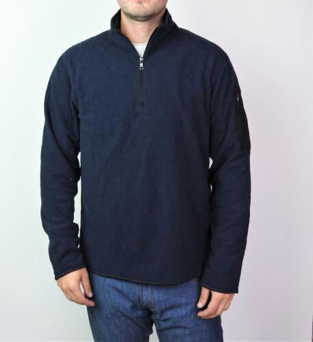 Da Uomo Ex M/&s Pile Maglione Casual Work Wear Caldo Navy /& Nero Zip