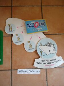 Publicidad-Publicidad-Carton-Fdj-Francesa-de-Juegos-Tacotac-Antiguo-Ticket-Gatos