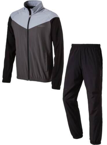 energetics Herren Präsentationsanzug Trainingsanzug FINLEY grau FLO  schwarz
