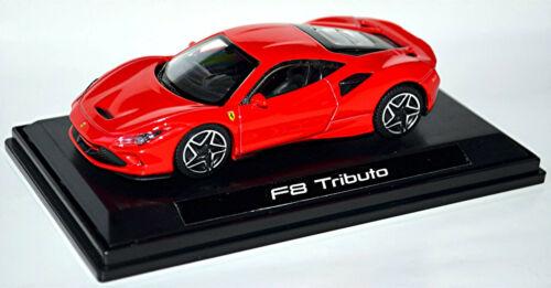 Ferrari F8 Tributo Coupe 2019 rot red in Vitrine Showcase 1:43 Bburago
