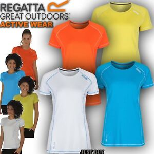 Regatta-T-Shirt-Womens-Virda-Hiking-Running-Cycling-Gym-Work-Walk-Sport-Yoga-Top