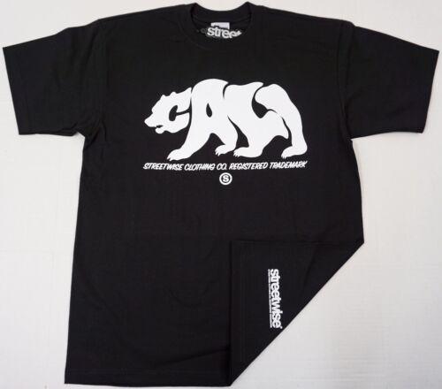 STREETWISE CALI CUBS T-shirt California Republic Tee Men L-4XL Black NWT