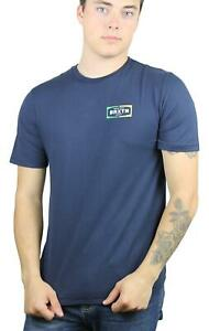 Brixton-Mens-Dozer-Premium-Fit-Short-Sleeve-T-Shirt-Navy-M-New