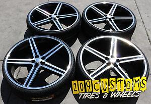 24 Black Iroc Wheels Tires 5x115 Charger Challenger Magnum