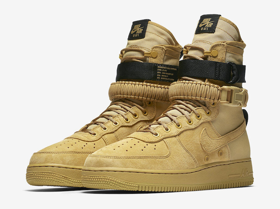 Nike SF AF1 High Wheat Club gold Men SZ 7.5 - 13